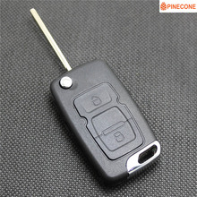 PINECONE for GEELY EMGRAND EC715 EC718 GLEAGLE GX7 ENGLON SC7 SX7 Car Key Case 2 Buttons Uncut Blade Remote Key ABS Shell 1PC