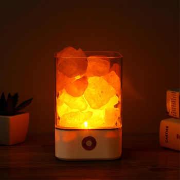 USB Crystal Light natural himalayan salt lamp led Lamp Air Purifier Mood Creator Indoor warm light table lamp bedroom lava lamp - Category 🛒 All Category