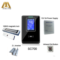 TCP/IP Linux System Touch ID Card And Password Access Control SC700 Biometric Card Access Control System
