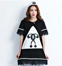 2016 new arrival summer Korea maternity clothing large size maternity T-shirt clothes for pregant women SZ6323