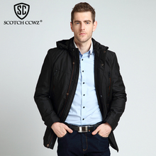 SCOTCH CCWZ Brand 2017 New Fashion Autumn Winter Jacket Men Parka Hooded Casual Warm Jackets And Coats For Men Clothing 5021A