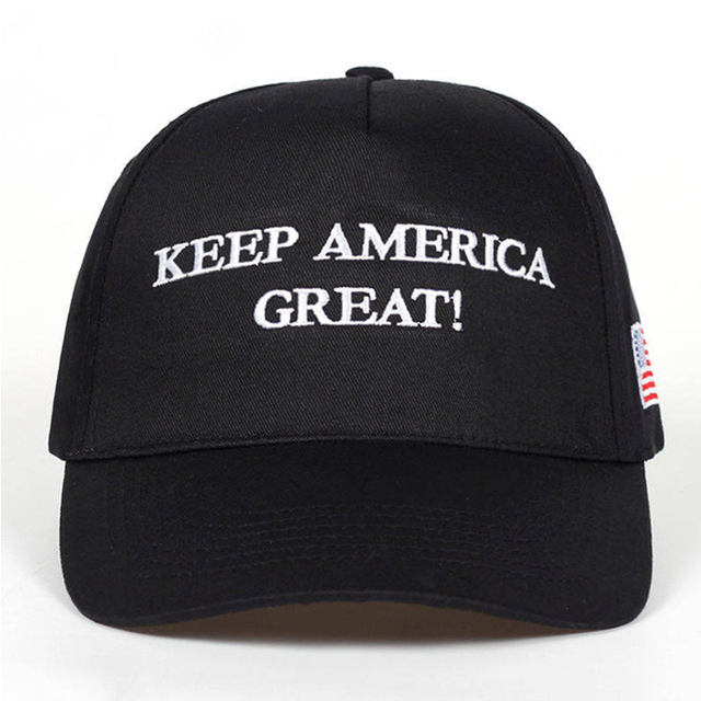 56ae83b19a6 2020 Donald Trump Red Black Hat Re-Election Keep America Great Embroidery  USA Flag MAGA