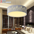 М Лучшая цена высококлассный светодиодный акриловый подвесной светильник креативный круглый Dia53 * H17cm декоративные светильники для гостино...