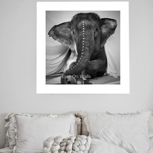 Nordic Elephant Poster And Prints Black White Animal Canvas Painting For Living Room Wall Pictures Modern Home Decor No Frame(China)