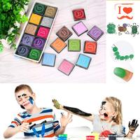 20pcs Colorful DIY Craft Finger Print Ink Pad Inkpad Rubber Stamps Inkpads Ink Pads Toys Kids