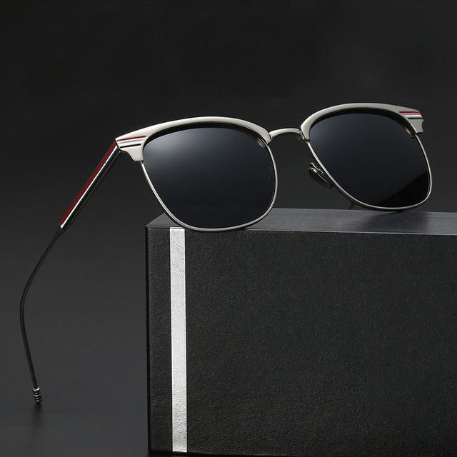 OFIR Novos Óculos Polarizados Homens Mulheres Maré Pessoas YF-76 Revestido de Metal Retro Óculos de Sol Óculos de Design Clássico