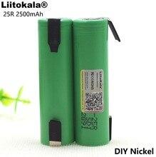 Liitokala 100% Новый оригинальный 18650 inr1865025r 20A разряда Li-lon Перезаряжаемые Мощность Батарея + DIY Никель