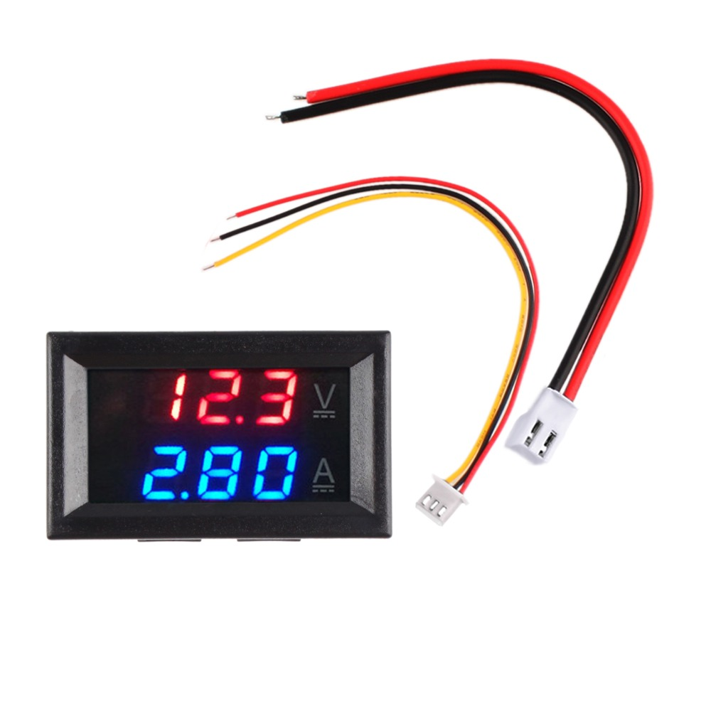 Hot <font><b>DC</b></font> <font><b>100V</b></font> 10A <font><b>50A</b></font> 100A Mini <font><b>Digital</b></font> Voltmeter Ammeter Voltage Current Meter Tester 0.28