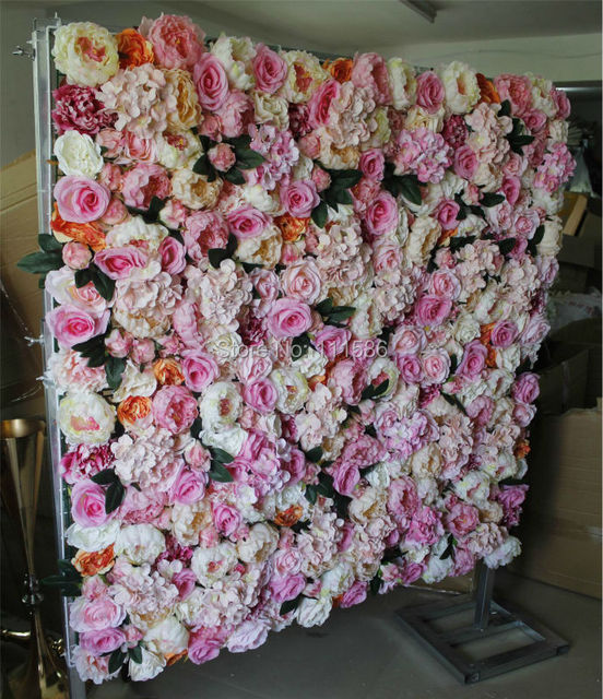 Spr Hot Mix Color Penoy Rose Flower Wall Wedding Backdrop