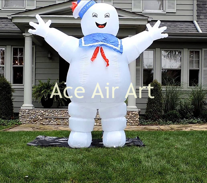 giant inflatable halloween decoration blow up inflatable ghost buster cotton candy