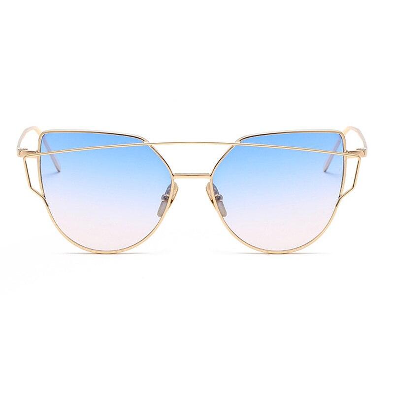 2017 Brand Retro Cat Eye Sunglasses Women Vintage Fashion Rose Gold Mirror Eye Glasses Unique Flat Ladies Eyewear Oculos UV400 5