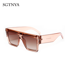 Fashion box sunglasses big personality wild ladies brand design glasses UV400 modified face