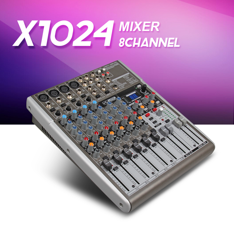 Highest quality BEHRINGER X1204USB with Rack hifi professional stage mixer / KTV / with effect / family wedding show meeting пульт behringer x1204usb