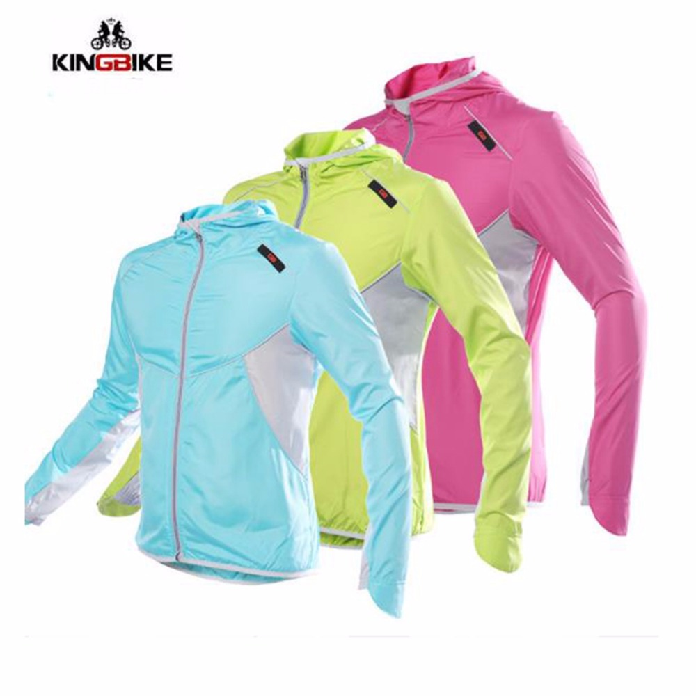 KINGBIKE Cycling Jersey Windbreaker Breathable Quick Dry Ultralight Bike Jacket Bicycle UV Protection long sleeve Cycling wear