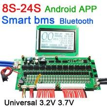 8S إلى 24S Lifepo4 ليثيوم أيون بطارية حماية 70A/100A/150A/200A/300A الذكية bms بلوتوث app شاشة الكريستال السائل 10S 13S 14S 16S