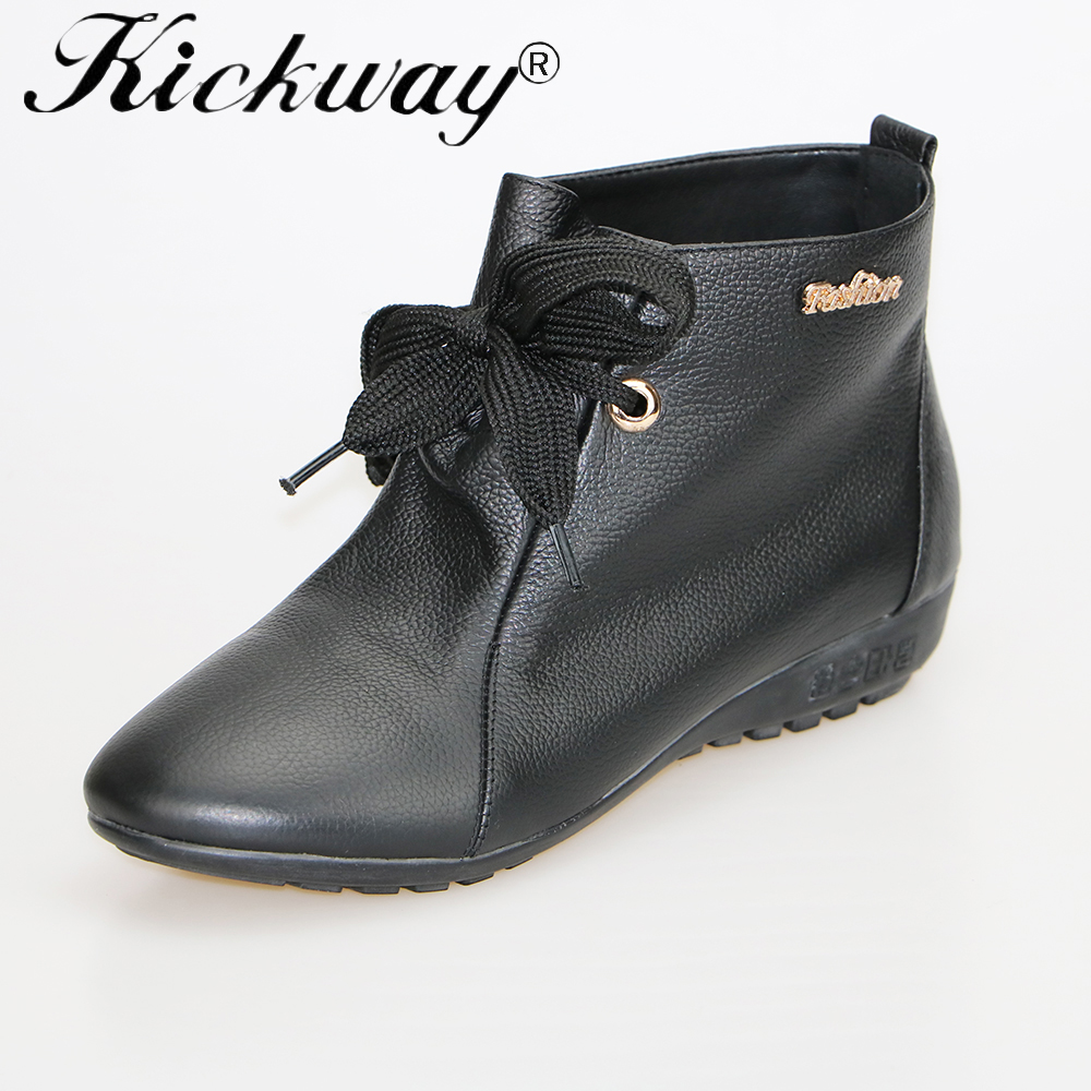 Kickway Big size 34-44 Brand 2016 new boots shoes Autumn Winter Female Genuine Leather Boots women boots Flat boots women warmKickway Big size 34-44 Brand 2016 new boots shoes Autumn Winter Female Genuine Leather Boots women boots Flat boots women warm