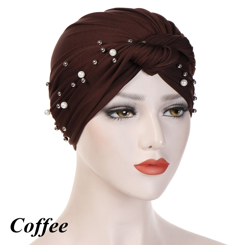 Headband-Indian-Muslim-Hijab-Islamic-Jersey-Beads-Cap-Stretchy-Pleated-Women-Turban-Hat-Knot-Head-Wrap(11)