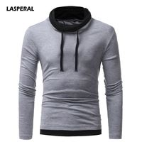 LASPERAL T Shirt Men Brand 2018 Fashion Men S Hooded Stitching Design Tops Tees T Shirt