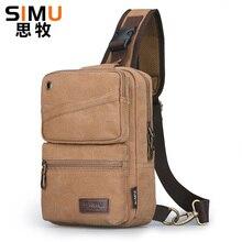 Alta capacidade saco de peito para homens masculino lona sling saco casual crossbody saco para viagem curta homem bolsa de ombro