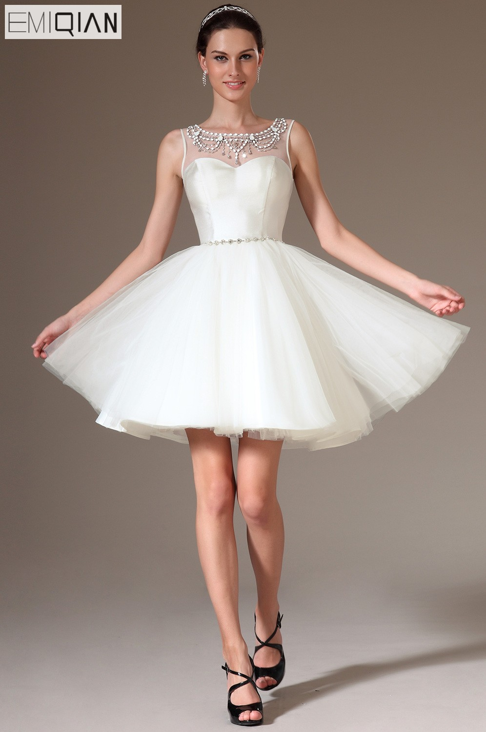 Freeshipping New Charming Tank Ball Gown Short Mini Tulle Cocktail Dresses