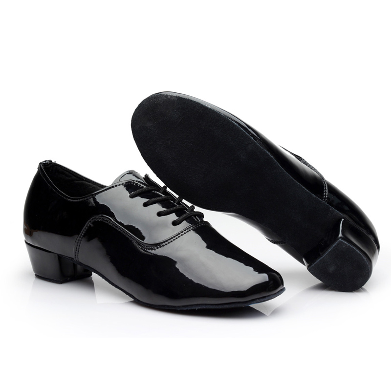 Gentleman Pro Latin Schoenen Modern Tango Ballroom Salsa Dansschoenen Heren Kids 3.5cm Med Hak Latin Dans Sandalen zapatos 18-27cm