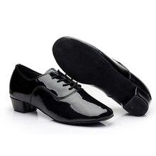 Beyefendi Pro Latin Ayakkabı Modern Tango Balo Salonu Salsa Dans Ayakkabıları Erkek Çocuk 3.5 cm Med Topuk Latin Dans Sandalet zapatos 18-27 cm