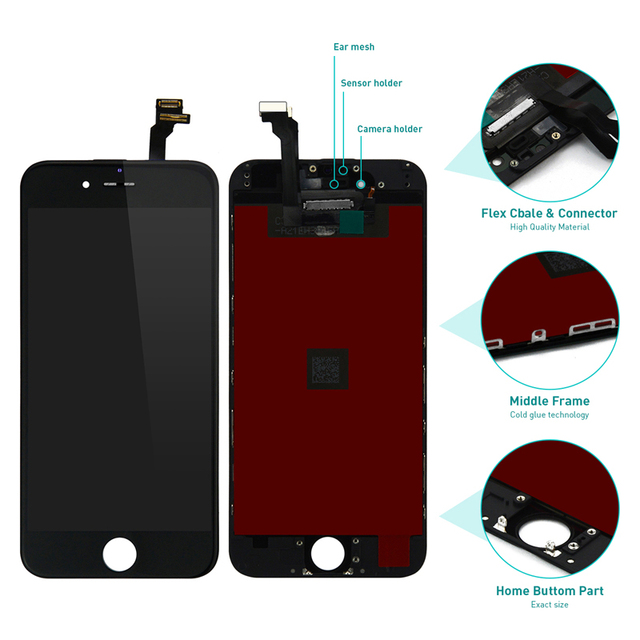 new concept 64f13 3d0dc US $31.0  100% Original lcd For iPhone 6 6 plus 6s 6s plus LCD Display with  Touch Screen Digitizer Assembly replacement for iphone6 s plus-in Mobile ...