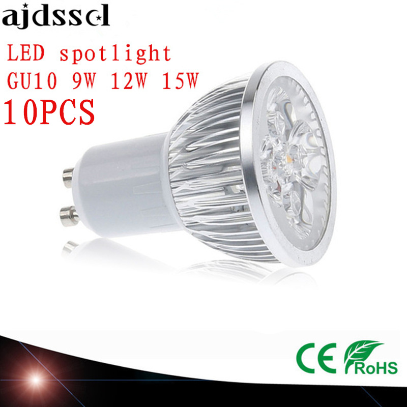 10X High Power spot Lampada LED spotlights GU5.3 MR16 E27 9W 12W 15W GU10 led bulbs Dimmable Led Lamp light AC&DC12V AC110V220V