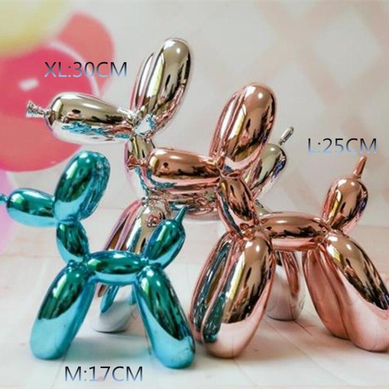 Caldo!!! Nuova Produzione 30 cm Alta XL Americano Pop Art Mestiere Della Resina Cane Palloncino Figurine Statua Cane Palloncino Regalo di Amore, regalo di natale