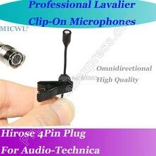 цена на MICWL bLACK Wireless Lavalier Lapel Omni Directivity Microphone for Audio-Technica Mic System Hirose 4Pin plus