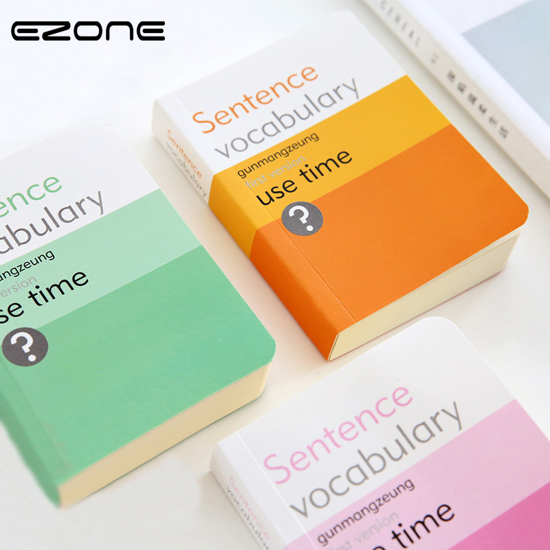 EZONE Thick Mini Notebook Memo Pad Candy Color Pocket Book Words Book Sentence Vocabulary Diary Note Book Notepad Stationery emoshire 4 set of notebooks stationery creative gift bag chinese style retro memo pad diary note book notepad n059