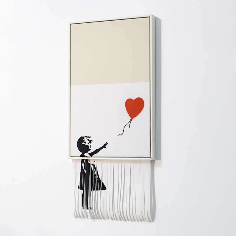 Famous Artis Abstract Painting Girl And Balloon Street Art Graffiti Porch Personality Living Room Wall Decor Hang Painting M1781