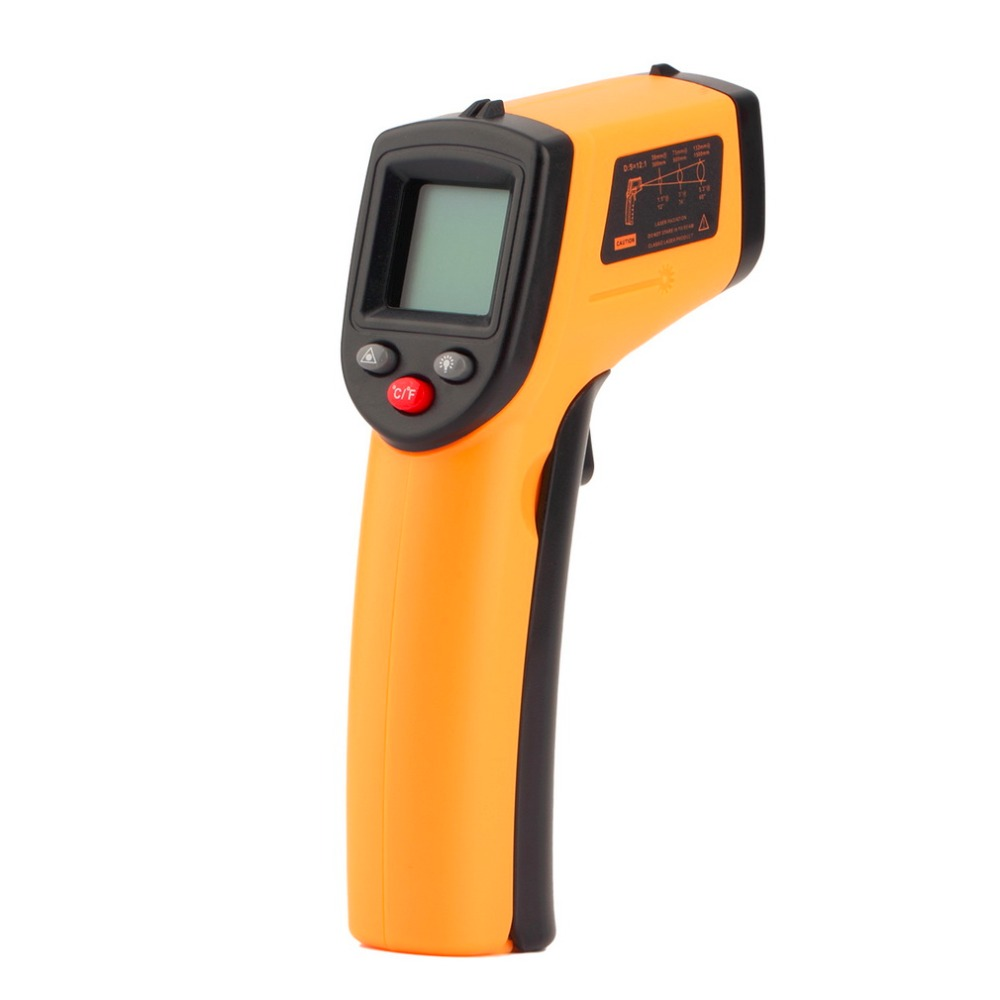 Non-Contact LCD Display IR Laser Infrared Digital Temperature Meter Sensor Thermometer Gun Point with Data Hold function digital infrared ir thermometer laser temperature gun non contact 50 1 with lcd backlight gm1350 18 1350c 50 1