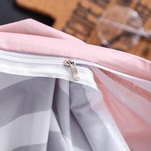 Image 3 - Rosa Herz Bettwäsche sets Quilt Bett Kissen Bettbezug set Single/Doppel/Königin/König Größe 3/4 stücke cartoon Hause Textil Kissenbezüge