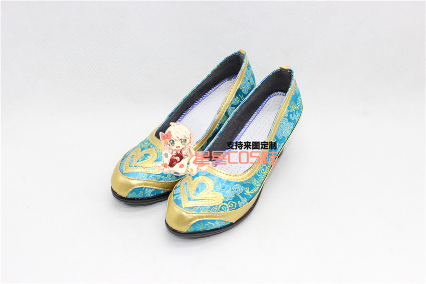 Love Live! Eli Ayase Ellie Blue Girls Halloween Cosplay Shoes Boots X002