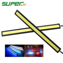 1Pcs 17cm COB DRL led Driving Daytime Running Lights Strip DRL Bar Aluminum Stripes Panel Car Working Lights 12V LED Car styling(China)
