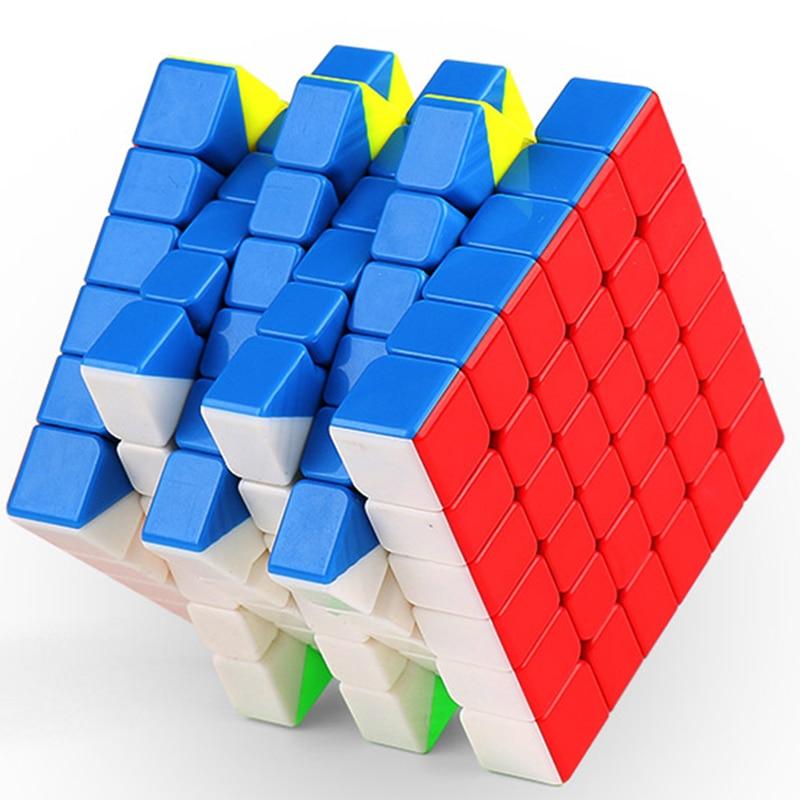 New Released MoYu Aoshi GTS 6x6x6 Cube Magic Cube Black/White/Stickerless Speed Puzzle Cube Toys For Children кэрролл л алиса в стране чудес alice in wonderland