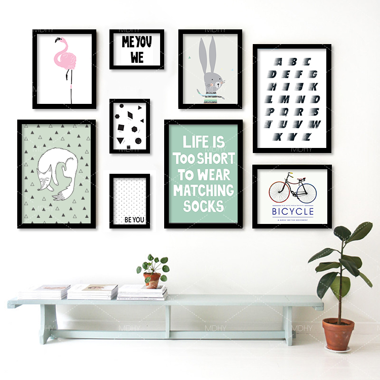 Buy modern nordic bike flamingos english for Buy modern art prints