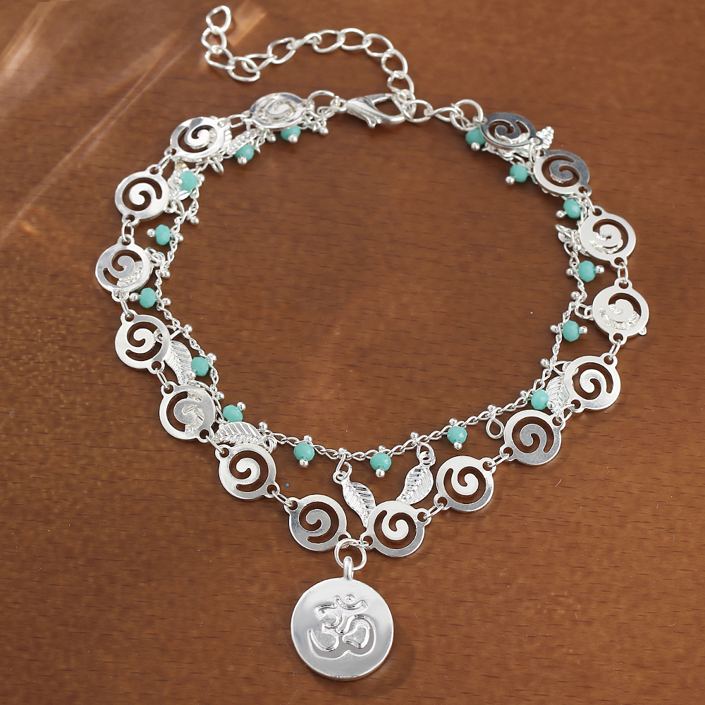 IF-ME-Bohemian-Multiple-Layers-Anklets-for-Women-Vintage-Silver-Color-Leaf-Beads-Pattern-Pendant-Foot