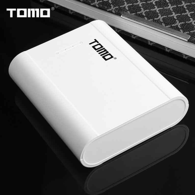Cargador de batería inteligente TOMO P4 USB Li-ion, funda para móvil DIY con soporte para 4x18650 baterías y salidas para teléfono