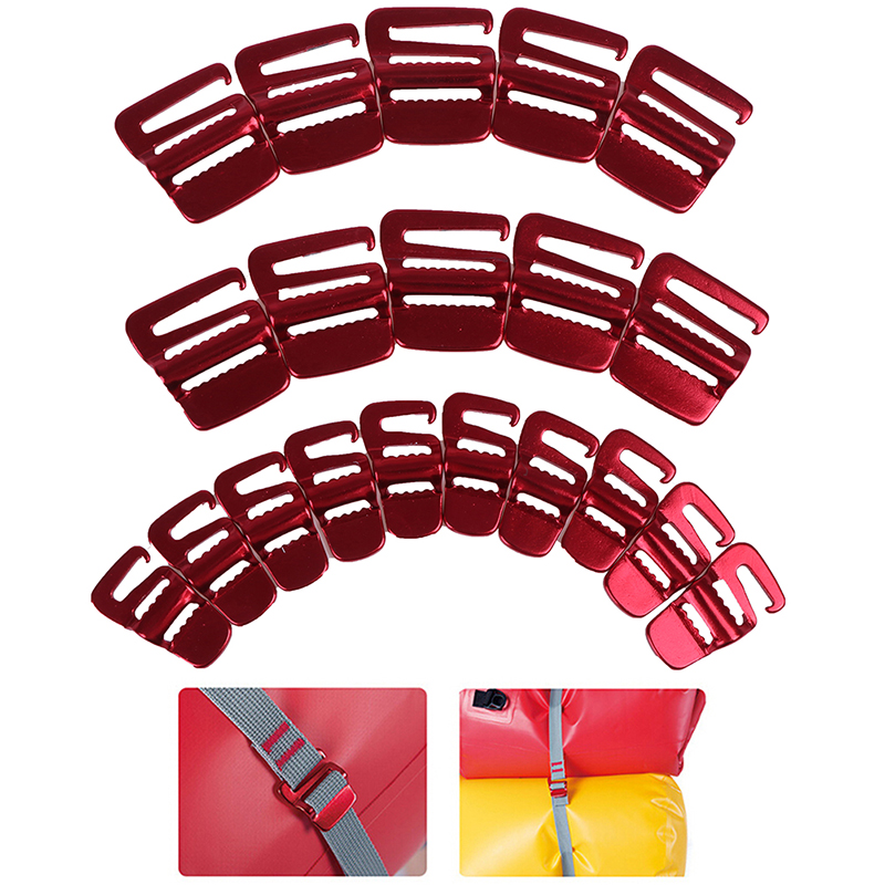 10Pcs Portable Backpack Fast Binding Buckle Luggage Package Tightening Buckle Tent Rope Tensioner Hook Outdoor Tools