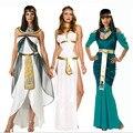 2016new alta calidad ropa interior atractiva de la reina cleopatra diosa griega athena disfraz de halloween para las mujeres del partido de cosplay dress