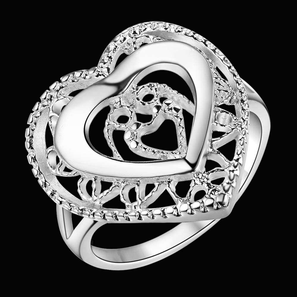 Herzförmigen Silber Fingerring Größe 6 #7 #8 #9 # Valentinstag Geschenk Frau  Schmuck Gute Qualität Und Niedrigen Preis AR464 In Herzförmigen Silber ...