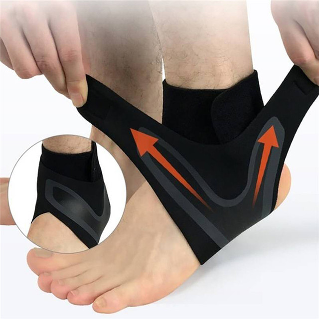 abf2f62655 1 Pair Breathable Feet Braces Injury Recovery Ankle Support Socks  Protective Wrap Compression Anti Sprain Heel Cover Left/Right