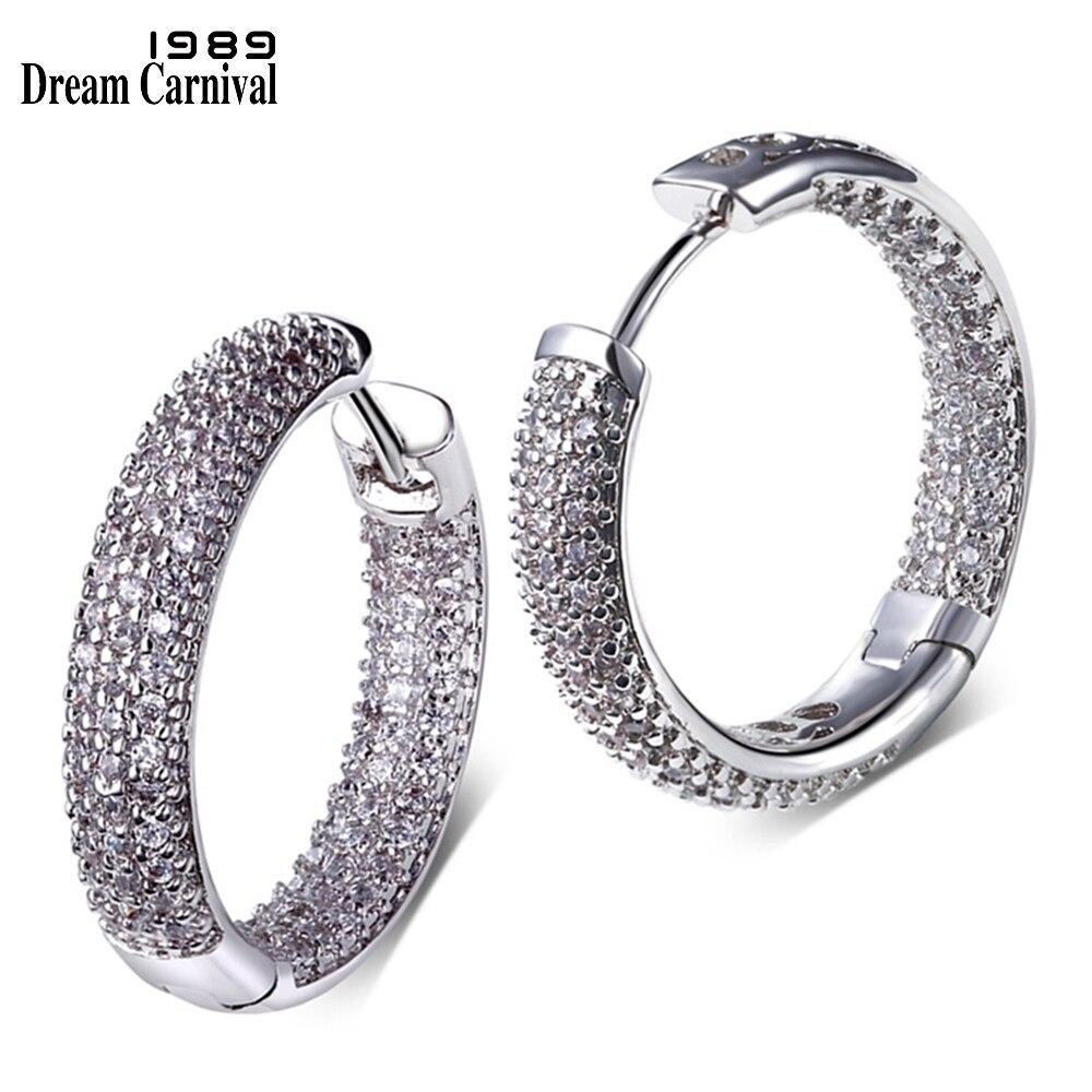 DreamCarnival1989 Premium Qualität Mode-Creolen für Frauen Rhodium - Modeschmuck - Foto 2