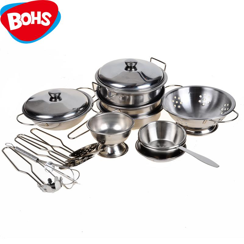 Stainless Steel Pots And Pans Pretend Play Kitchen Set For Kids 16pcs In  Kitchen Toys From Toys U0026 Hobbies On Aliexpress.com | Alibaba Group