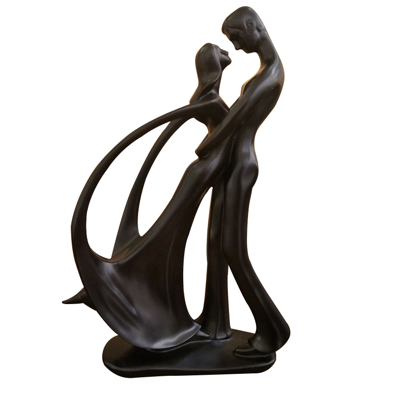 Wedding Gift Home Decoration Ceramic Couple Sculpture