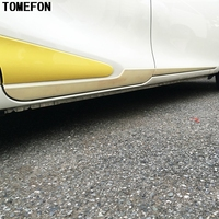 ABS Chrome For Toyota Sienta 2015 2016 2017 Second Gen NHP170 Side Door Body Cover Trim