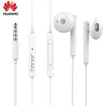 Oryginalny zestaw słuchawkowy Huawei Honor AM115 3.5mm słuchawki douszne z pilotem Mic wire control zestaw słuchawkowy dla honoru 9 Lite