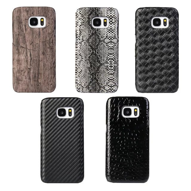 size 40 eb62e 68341 US $2.99 |Fashion Men's Snakeskin Wood style Case for samsung s7 Leather  cover for samsung galaxy s7 case cover freeshipping-in Half-wrapped Cases  ...